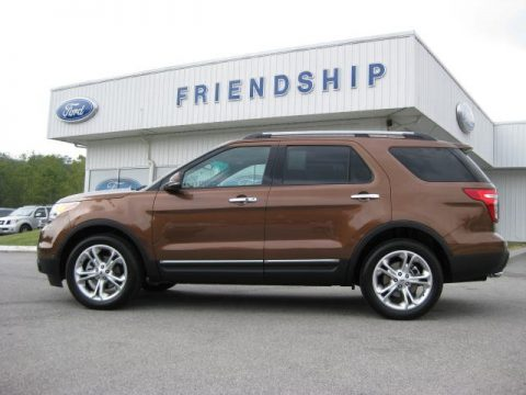 Golden Bronze Metallic Ford Explorer Limited 4WD.  Click to enlarge.