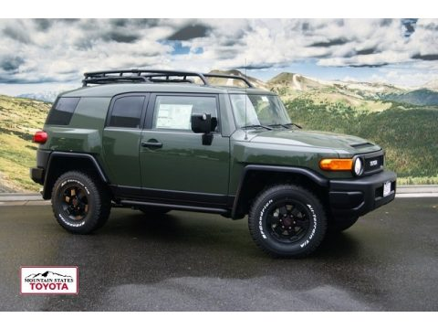 Army Green Toyota FJ Cruiser Trail Teams Special Edition 4WD. Click To  Enlarge.