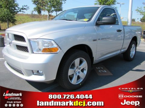 Bright Silver Metallic Dodge Ram 1500 Express Regular Cab.  Click to enlarge.