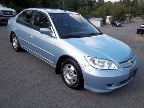 Opal Silver Blue Metallic Honda Civic Hybrid Sedan. Click To Enlarge.