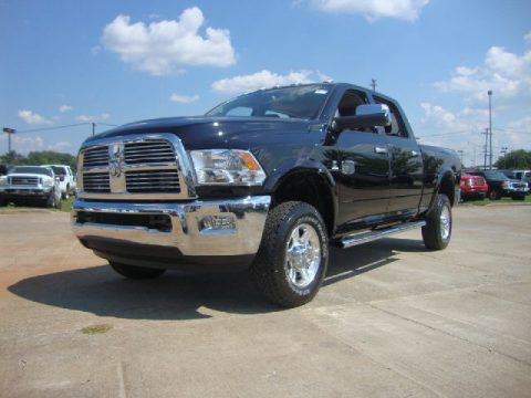 Black Dodge Ram 2500 HD Laramie Longhorn Crew Cab 4x4.  Click to enlarge.