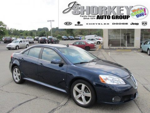 Midnight Blue Metallic Pontiac G6 GT Sedan.  Click to enlarge.