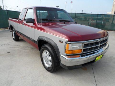 on 1991 Dodge Dakota Red