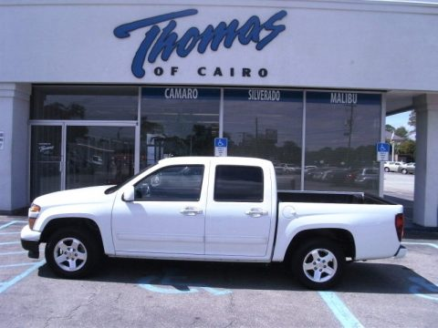 Summit White Chevrolet Colorado LT Crew Cab.  Click to enlarge.