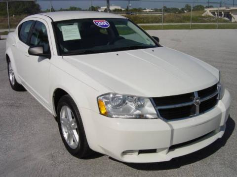 Stone White 2008 Dodge Avenger SXT with Dark Slate Gray/Light Slate Gray