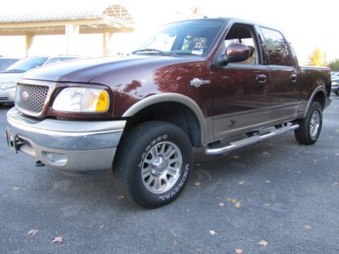 Used 2003 ford f150 king ranch supercrew 4x4 for sale - Chestnut brown exterior gloss paint ...