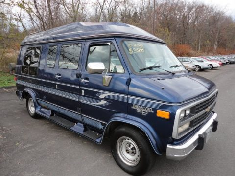 Indigo Blue Metallic Chevrolet Chevy Van G20 Passenger Conversion Click To Enlarge