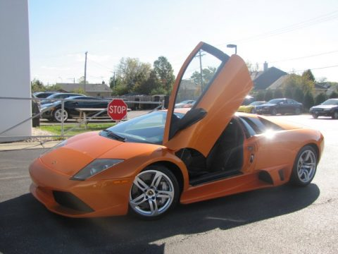 Arancio Atlas (Pearl Orange) Lamborghini Murcielago LP640 Coupe.  Click to enlarge.