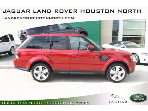 Jaguar Land Rover Houston North   Houston, Texas. Firenze Red Metallic Land  Rover Range Rover Sport HSE LUX. Click To Enlarge.