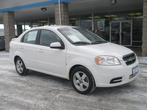 Summit White Chevrolet Aveo LS Sedan. Click To Enlarge.