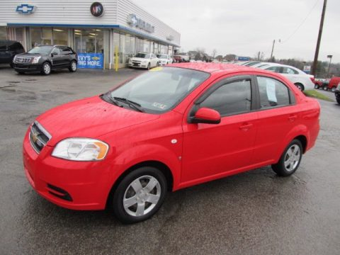 Victory Red Chevrolet Aveo LS Sedan. Click To Enlarge.