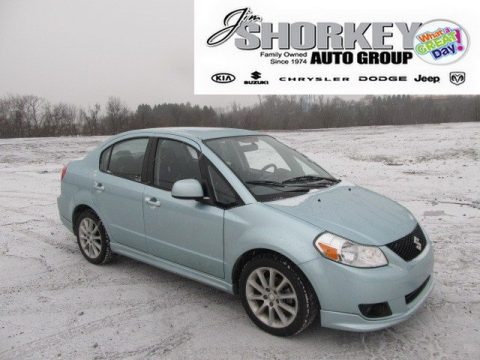 Vapor Blue Metallic Suzuki SX4 Touring Sport Sedan.  Click to enlarge.