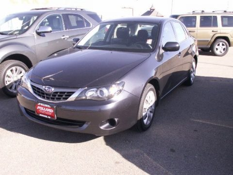 Dark Gray Metallic Subaru Impreza 2.5i Sedan.  Click to enlarge.
