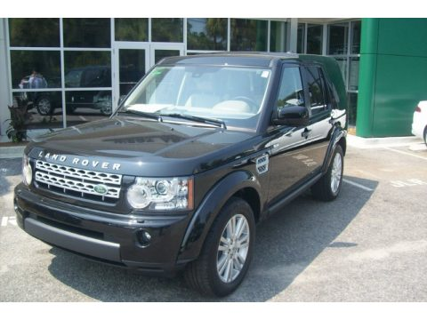 Santorini Black Metallic Land Rover LR4 HSE LUX.  Click to enlarge.