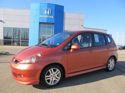 Used 2008 honda fit sport for sale stock f828538 for Orange honda fit