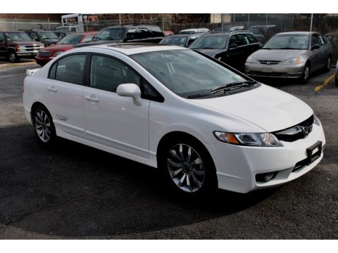 Taffeta White Honda Civic Si Sedan. Click To Enlarge.