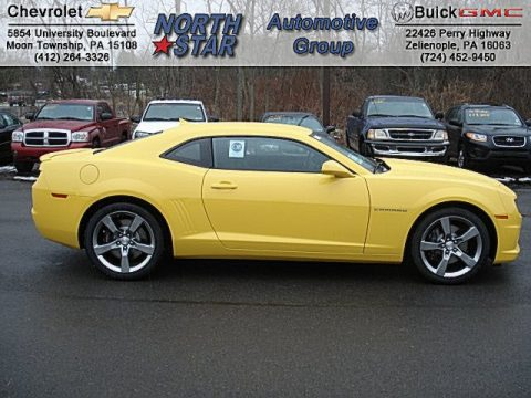 Rally Yellow Chevrolet Camaro SS/RS Coupe.  Click to enlarge.