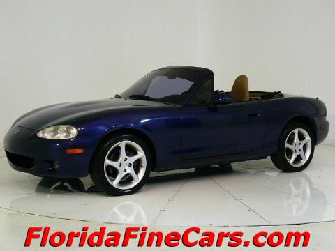 used 2001 mazda mx 5 miata ls roadster for sale stock cc7058 dealer car ad. Black Bedroom Furniture Sets. Home Design Ideas