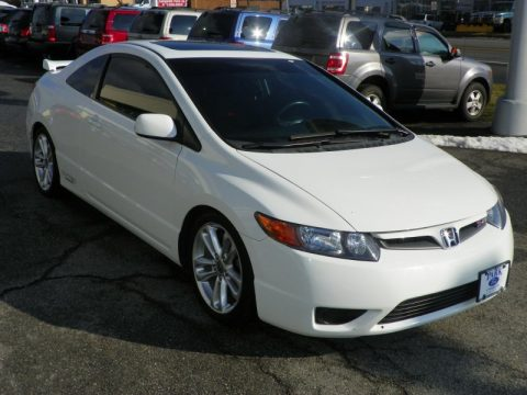 white 2008 honda civic si coupe. Black Bedroom Furniture Sets. Home Design Ideas