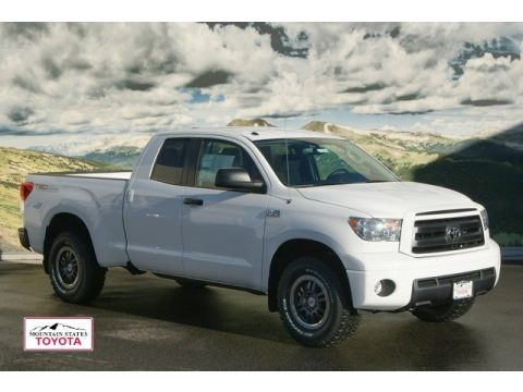 Super White Toyota Tundra TRD Rock Warrior Double Cab 4x4. Click To Enlarge.