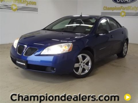 Electric blue metallic pontiac g6 gt sedan click to enlarge