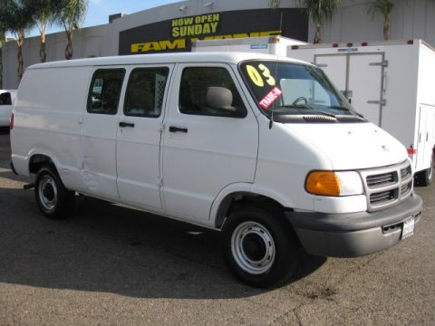 used 2003 dodge ram van 2500 cargo for sale stock 504156 dealer car ad. Black Bedroom Furniture Sets. Home Design Ideas