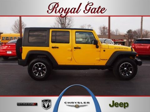 Detonator Yellow Jeep Wrangler Unlimited Rubicon 4x4. Click To Enlarge.