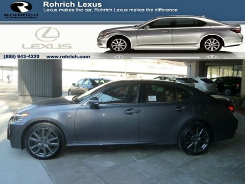 Nebula Gray Pearl Lexus GS 350 AWD F Sport.  Click to enlarge.