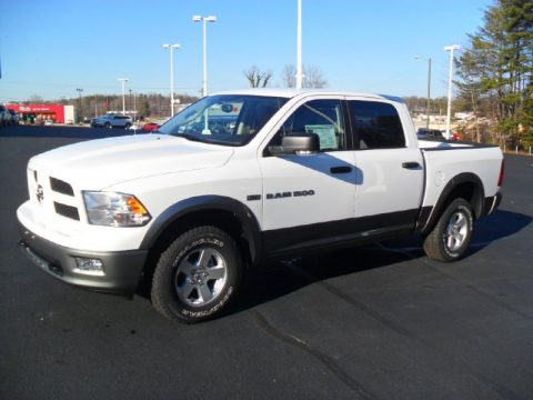 Bright White Dodge Ram 1500 Outdoorsman Crew Cab 4x4.  Click to enlarge.
