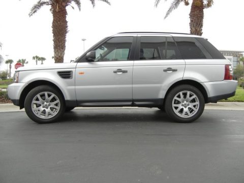 Zermatt Silver Metallic Land Rover Range Rover Sport HSE.  Click to enlarge.