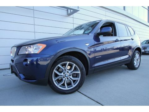Deep Sea Blue Metallic BMW X3 xDrive 35i.  Click to enlarge.
