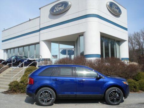Deep Impact Blue Metallic Ford Edge Sel Awd Click To Enlarge