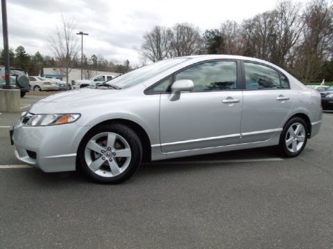 Perfect Alabaster Silver Metallic Honda Civic LX S Sedan. Click To Enlarge.