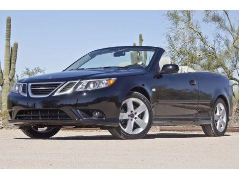 Black Saab 9-3 2.0T Convertible.  Click to enlarge.