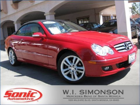 Mars Red Mercedes-Benz CLK 350 Cabriolet.  Click to enlarge.