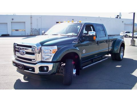 Forest Green Metallic Ford F450 Super Duty XLT Crew Cab 4x4 Dually.  Click to enlarge.