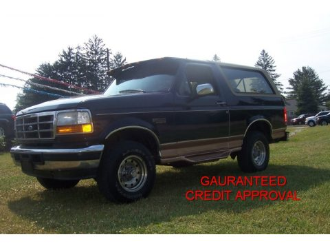 Used 1995 Ford Bronco Eddie Bauer 4x4 For Sale Stock