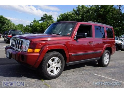 Red Rock Pearl Jeep Commander Sport 4x4. Click To Enlarge.