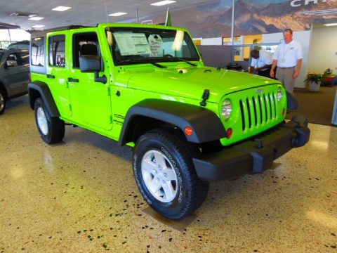 New 2012 Jeep Wrangler Unlimited Sport S 4x4 for Sale - Stock #J9563