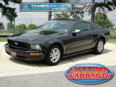 used 2005 ford mustang v6 deluxe coupe for sale stock. Black Bedroom Furniture Sets. Home Design Ideas