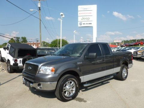 Dark Shadow Grey Metallic Ford F150 XLT SuperCab 4x4.  Click to enlarge.