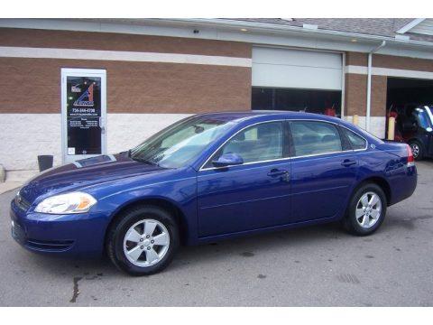 Laser Blue Metallic Chevrolet Impala LT. Click To Enlarge.
