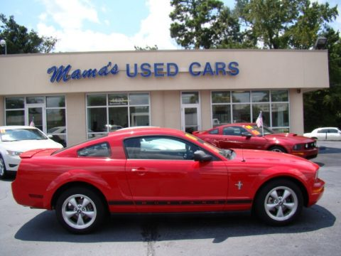 Used 2007 ford mustang v6 premium coupe for sale stock 00a4554b torch red ford mustang v6 premium coupe click to enlarge publicscrutiny Image collections