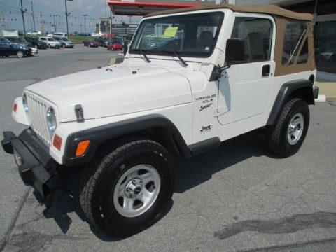 used 2001 jeep wrangler sport 4x4 for sale stock 14762 dealer car ad 69727992. Black Bedroom Furniture Sets. Home Design Ideas