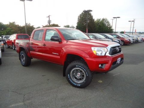 Barcelona Red Metallic Toyota Tacoma TX Pro Double Cab 4x4. Click To  Enlarge.