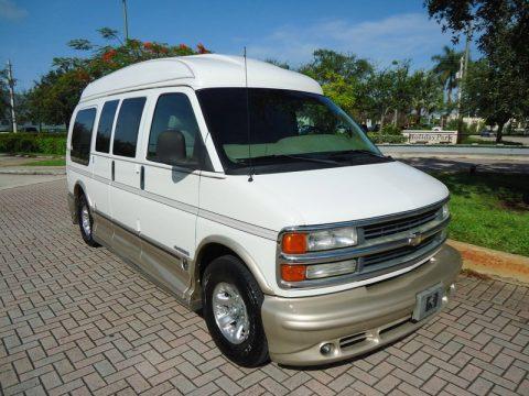 Summit White Chevrolet Express 1500 Passenger Conversion Van Click To Enlarge
