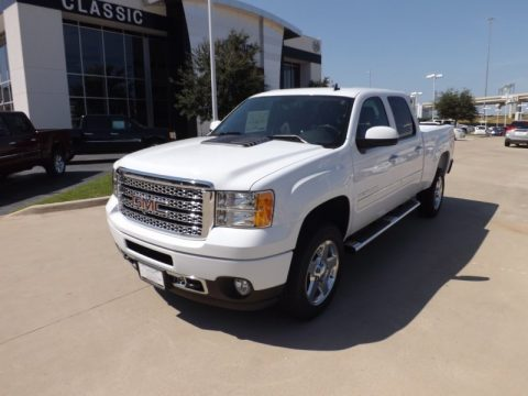 Summit White GMC Sierra 2500HD Denali Crew Cab 4x4. Click to enlarge.