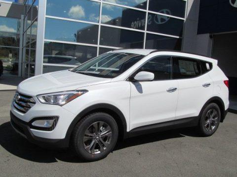 Frost White Pearl Hyundai Santa Fe Sport.  Click to enlarge.