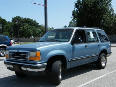 Light Crystal Blue Metallic Ford Explorer XLT 4x4.  Click to enlarge.