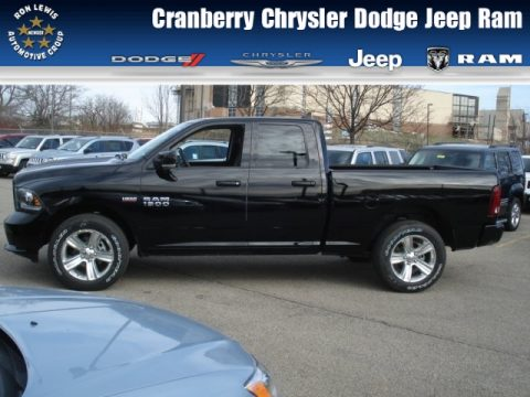 Black Ram 1500 Sport Quad Cab 4x4.  Click to enlarge.